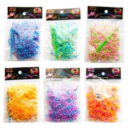 Loom Bands aproces - trīskrāsainas (200 gb.)