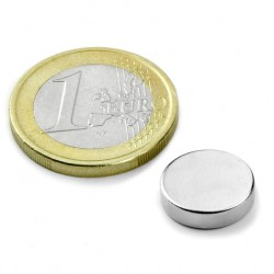 Neodīma magnēts 12x3mm N45