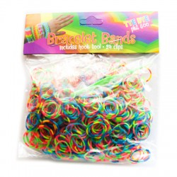 Loom Bands aproces - divkrāsainas MIX (600 gb.)