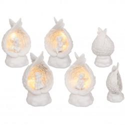 Figūra Enģelis ligzdiņā ar LED 13cm