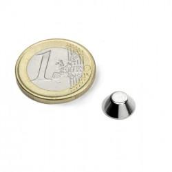 Neodīma magnēts nošķelts konuss 10/5x4mm N45