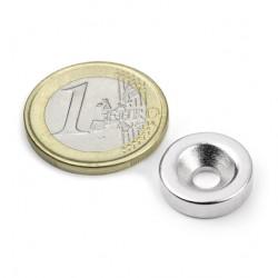 Neodīma magnēts ar caurumu 15x4mm N35 3kg