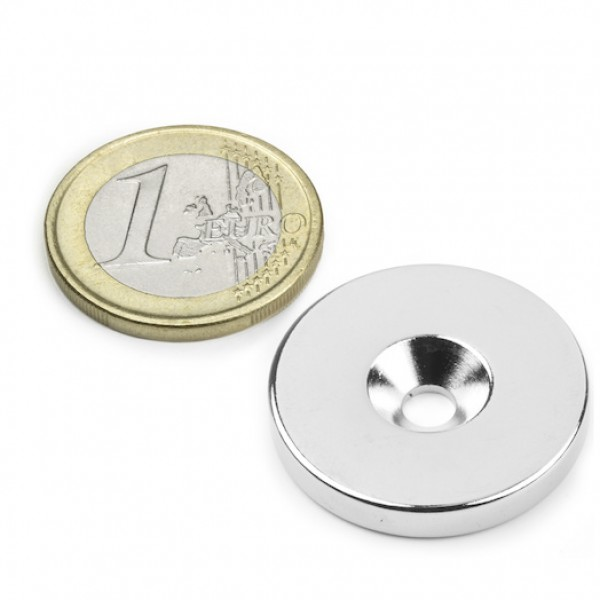 Neodīma magnēts ar caurumu 27mm N35 8kg
