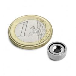 Neodīma magnēts ar caurumu 10mm N38 1.3kg