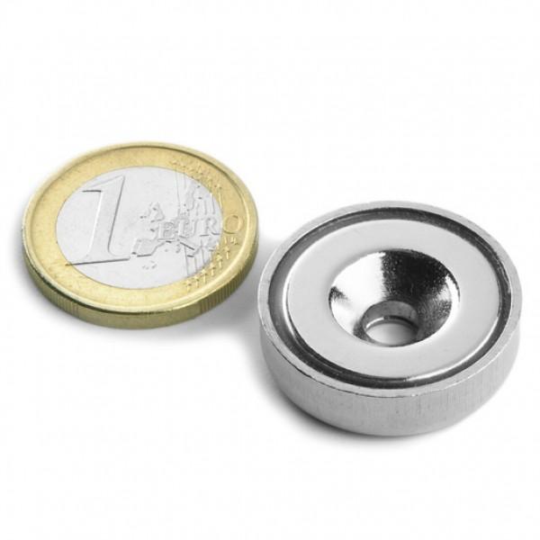 Neodīma magnēts ar caurumu 25mm N38