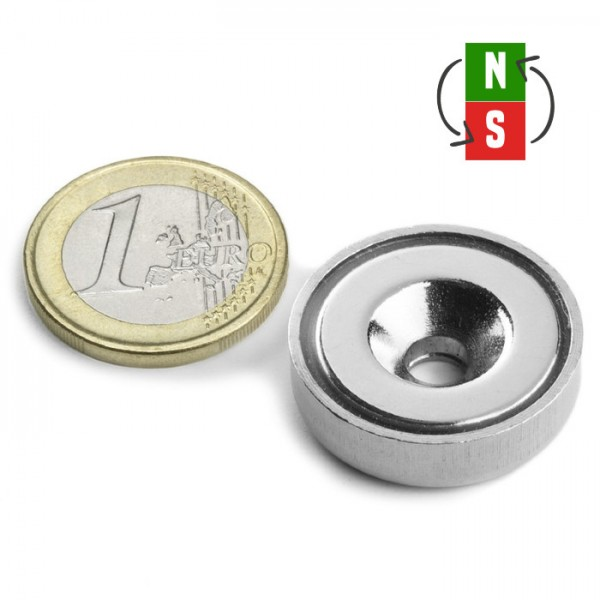 Neodīma magnēts ar caurumu 25mm N35 18kg