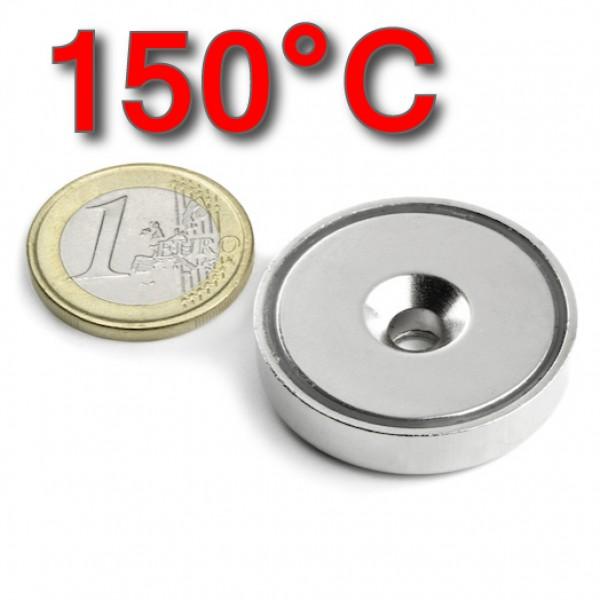 Neodīma magnēts ar caurumu 32mm 38SH 150C