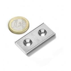 Neodīma magnēts pieskrūvējams 40x20x4mm N38 17kg