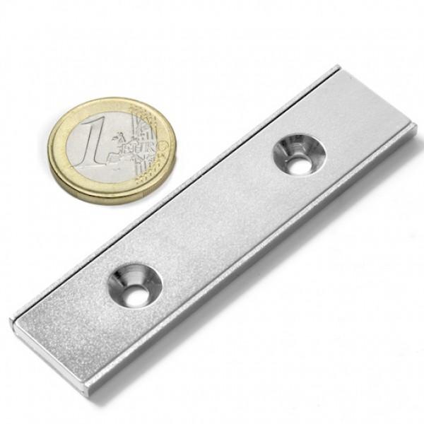 Neodīma magnēts pieskrūvējams 80x20x4mm N38 37kg