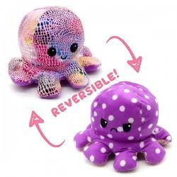 Mīkstā rotaļlieta divpusējais astoņkājis