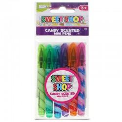 SWEET SHOP smaržīgās pildspalvas, 6 gab.