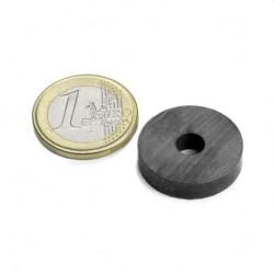 Ferīta magnēts, gredzenveida, 22x5mm