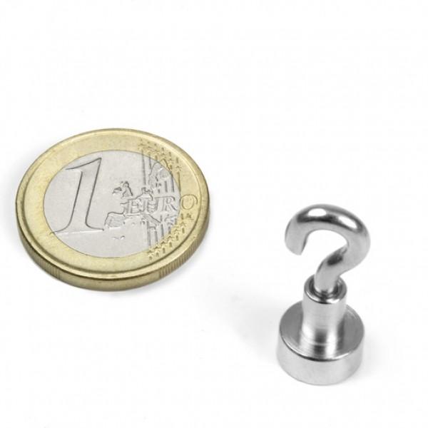 Neodīma magnēts ar āķi 10mm N38 3kg