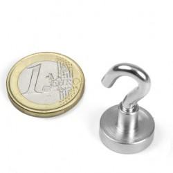 Neodīma magnēts ar āķi 16mm N38 8kg