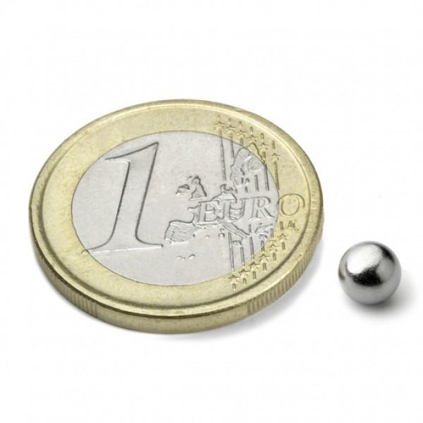 Neodīma magnēts lode 5mm N35 0.3kg