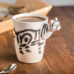 Porcelāna krūze 3D kaķis