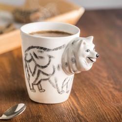 Porcelāna krūze 3D suns