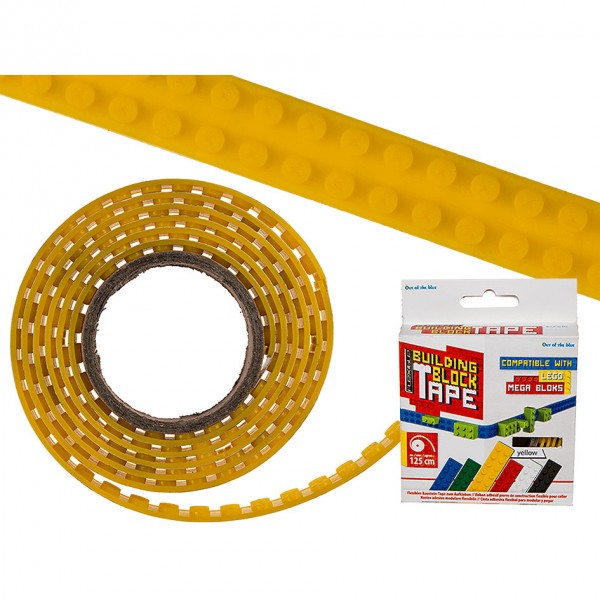 Elastīgā konstruktoru Lego lente 1.25m dzeltena