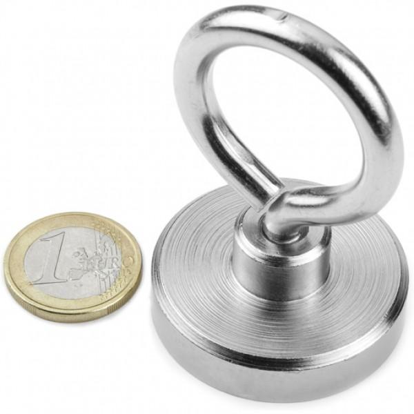 Neodīma magnēts ar vītni un riņķi 40mm N38