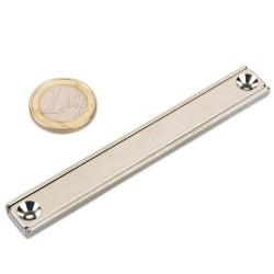 Neodīma magnēts pieskrūvējams 100x13.5x5mm N35 30kg