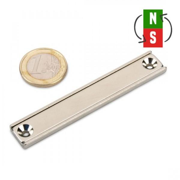 Neodīma magnēts pieskrūvējams 80x13.5x5mm N35 28kg