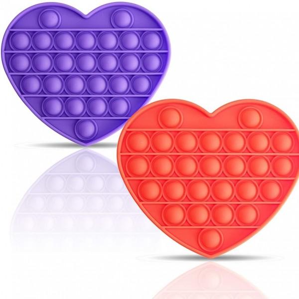 Pop it - Antistresa burbuļu spēle Sirds 1 gab.