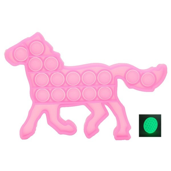 Pop it - Antistresa burbuļu spēle Zirgs Spīd tumsā
