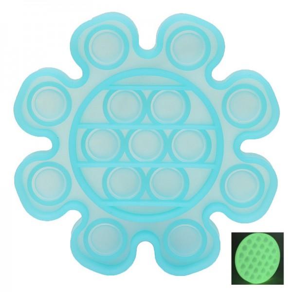 Pop it - Antistresa burbuļu spēle Zieds Spīd tumsā