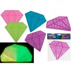 Pop it Toy Dimants - Antistresa burbuļu spēle Spīd tumsā
