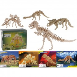 3D koka puzle konstruktors - Dinozaurs