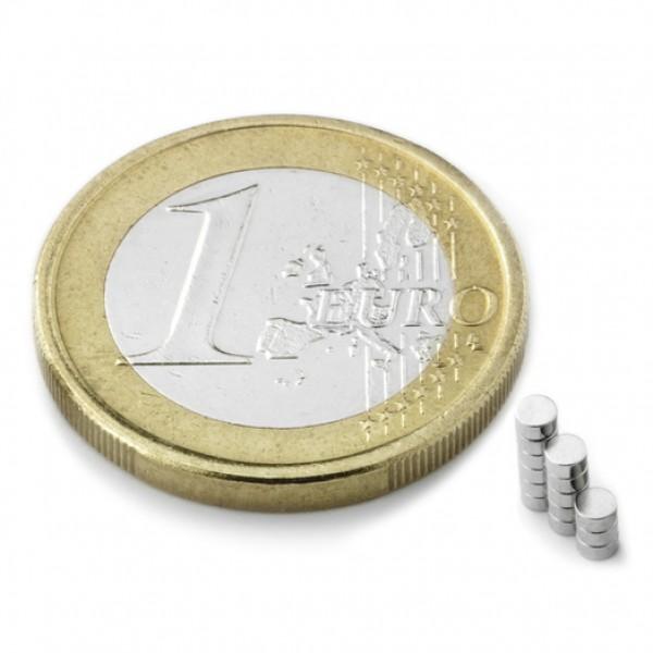 Neodīma magnēts 2x1mm N35, 10 gab.