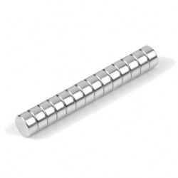 Neodīma magnēts 4x2mm N45 0.42kg, 10 gab.