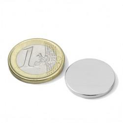 Neodīma magnēts 20x2mm N45 2.9kg