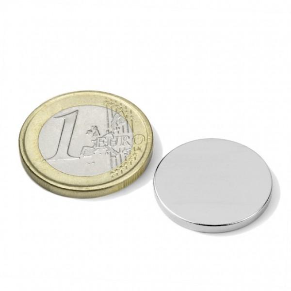 Neodīma magnēts 20x2mm N45