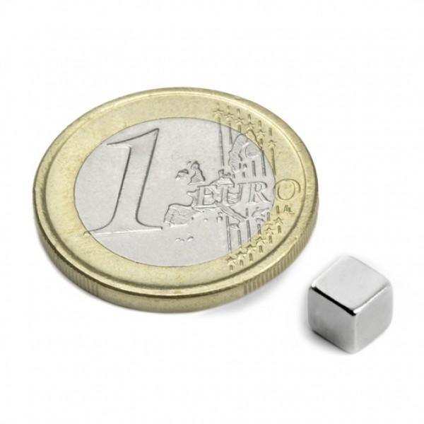 NOCENOTS! Neodīma magnēts 5mm kubs N35