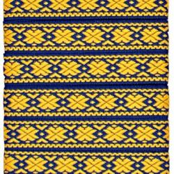 "Tautiska lente ""Auseklis"", dzeltens uz zila"