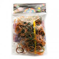 Loom Bands aproces - kamuflāžas krāsas (200 gb.)