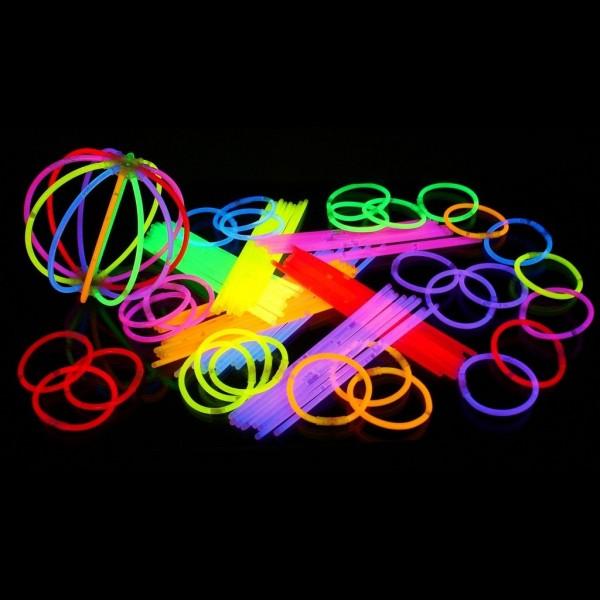 Glow sticks - gaismas kociņi - aproces (100 gab.)