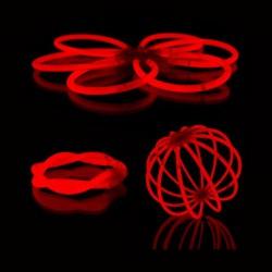 Glowsticks - gaismas kociņi - aproces (100 gab.) sarkani