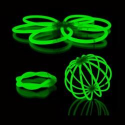 Glowsticks - gaismas kociņi - aproces (100 gab.) zaļi