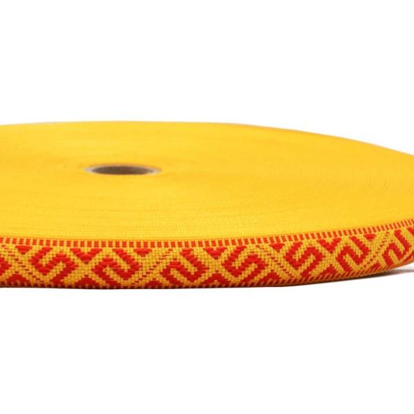 "Tautiska lente ""Jumis"", dzeltena ar sarkanu"