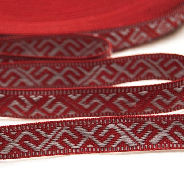 """Tautiska lente """"Jumis"""", pelēks uz sarkana"""