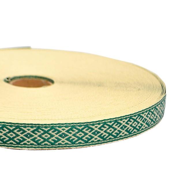 "Tautiska lente ""Krupītis"", zaļa"