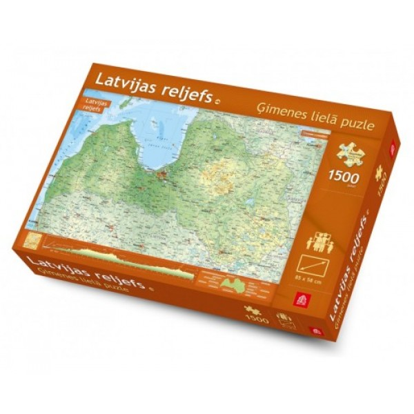 """Lielā ģimenes puzle """"Latvijas reljefs"""""""