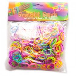 Loom Bands aproces - krāsu MIX (600 gb.)