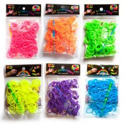 Loom Bands aproces - neona krāsas (200 gb.)