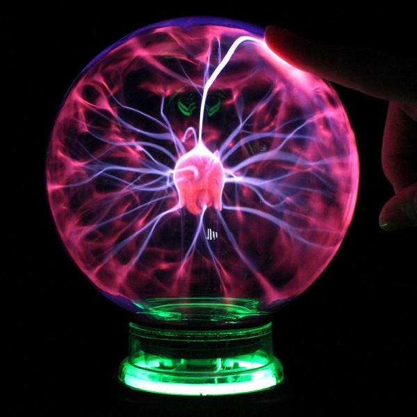 Plazmas bumba 15cm ar neonu - Plasma ball
