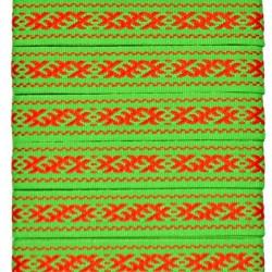 "Tautiska lente ""Zalktis"", sarkans uz zaļa"